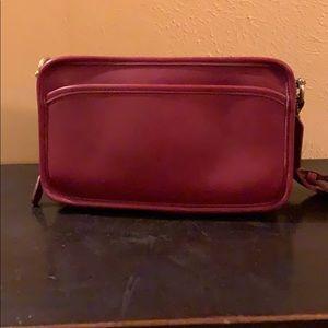 Vintage Coach Multi Zip bag